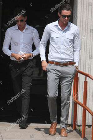 Lewis Tweed and Jack Tweed leaving court