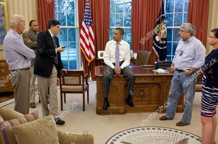 Editorial photo of President Barack Obama working on the debt crisis at the White House, Washington DC, America - Jul 2011