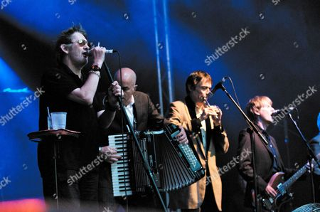The Pogues - Shane MacGowan, James Fearnley, Spider Stacy and Darryl Hunt