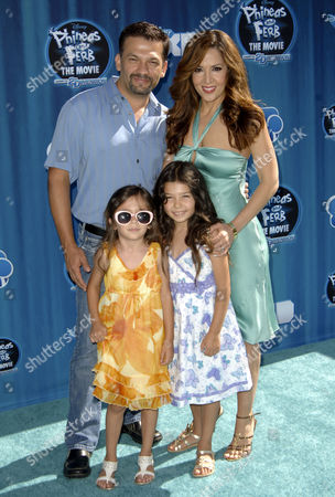 Maria Canals-Barrera, husband David Barrera, daughter Bridget & Madeleine