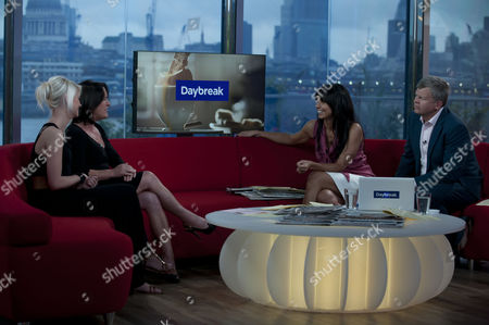 Danielle Harold and Cathy Murphy with Christine Bleakley and Adrian Chiles