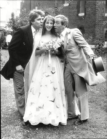 Actor Andrew Sachs Right With His Daughter Katie Who Married Actor Charlie Baillie At The Priory Church In Hampstead - 1982