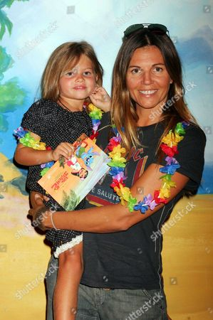 Stock Image of Veronika Loubry and daughter Thylane Loubry Blondeau