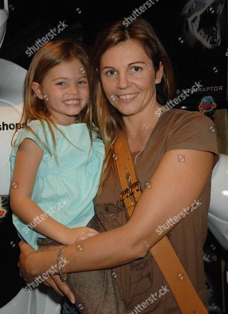 Stock Photo of Veronika Loubry with daughter Thylane Loubry Blondeau