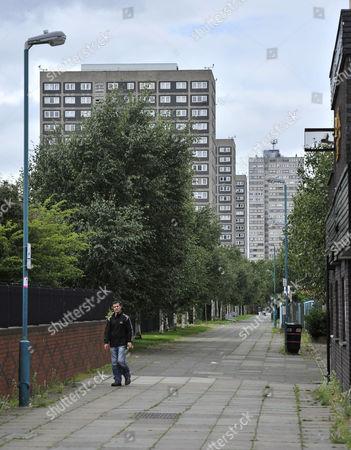 Bbc North Director Peter Salmon Not Moving To Salford. Salford Landmarks - Salford Flats Estate.