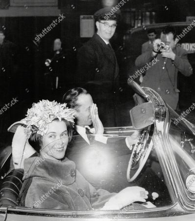 Wedding Of Poet/author Gavin Maxwell And Lavinia Renton Daughter Of Sir Alan Lascelles Former Private Secretary To King George Vi.