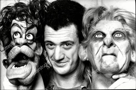 Guy Jenkin Who Wrote Television Programme Spitting Image Pictured With Some Puppets