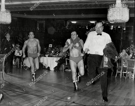 Steve Logan Mick Mcmanus And Stratford Johns During Lords Taverners Ball