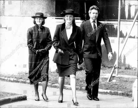 Editorial image of Sarah Ferguson Duchess Of York Attends Memorial Thanksgiving Service For The Life Of Sir Robert Cooke At St Church Westminster With Her Are Publisher Richard Burton And Helen Hughes