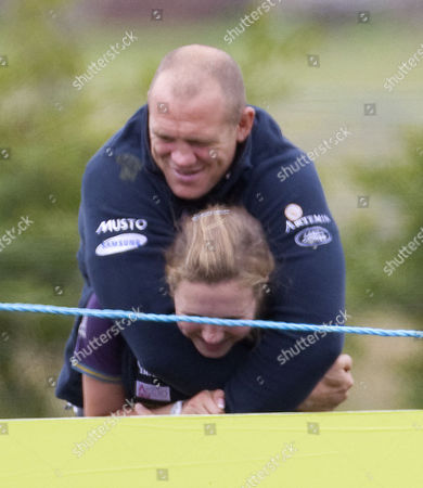 Mike Tindall and Stephanie Phillips, half sister to Zara Phillips.