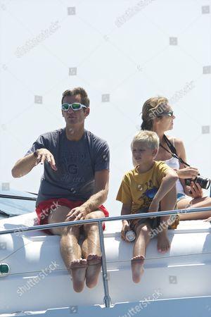 Inaki Urdangarin with son, Prince Juan Valentin and Princess Elena