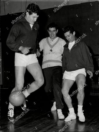 Rugby Player Keith Jarrett (18) (left) And Tony Lewis Playing Football For A Change