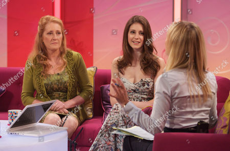 Liz Leaverland and Mary-Jess with Fiona Phillips
