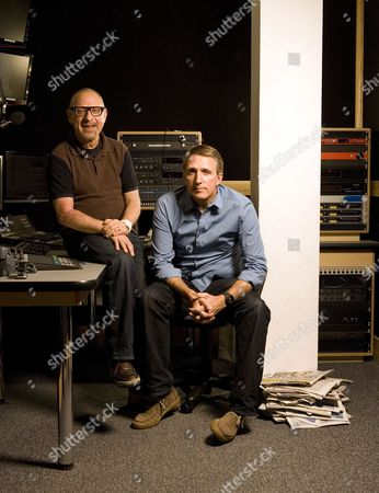 Stock Photo of Talksport Radio presenters Andy Jacobs (left) and Paul Hawksbee.