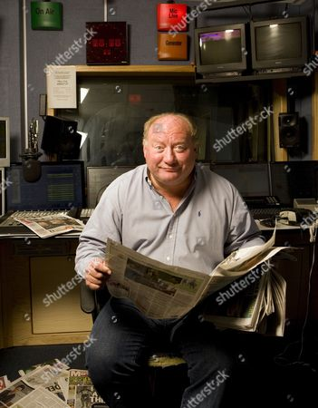 Stock Image of Talksport Radio morning show presenter Alan Brazil.