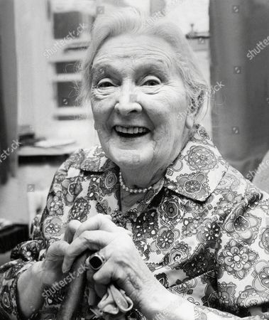 Actress Dame Sybil Thorndike Pictured Inside Her Chelsea Flat. She Will Be 90 Tomorrow. Dame Sybil Thorndike (24 October 1882-9 June 1976).