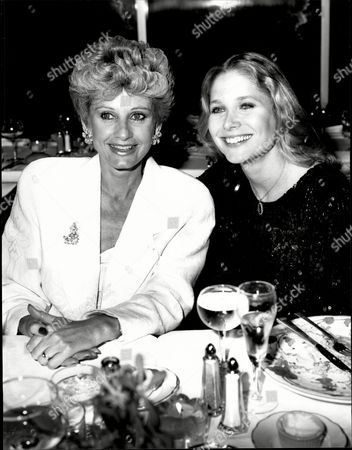 Actress Jill Ireland Is Seen Here With Deborah Raffin