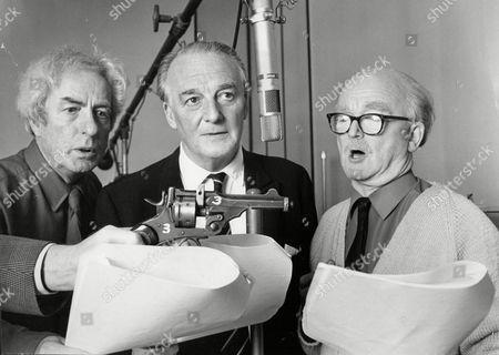 Cast Of Radio Programme 'dick Barton - Special Agent'. Alex Mccrindle Noel Johnson And John Mann.