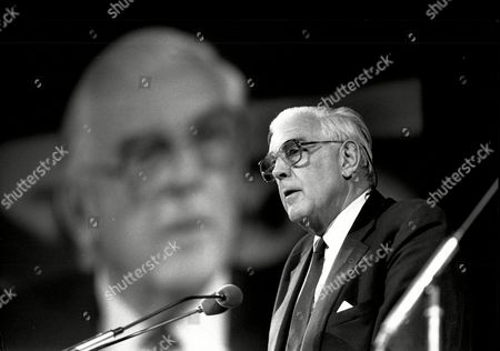 Marmaduke Hussey Chairman Of The Bbc Is Seen Speaking At The Royal Albert Hall In London