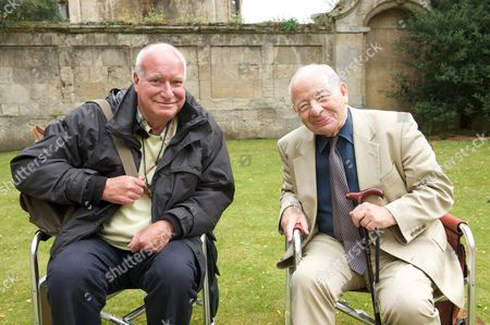 Behind the scenes filming camera crew producer Chris Burt and Colin Dexter