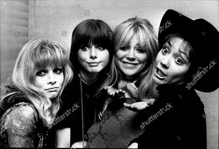 Stars Of 1968 Film 'the Touchables'. (l To R ) Judy Huxtable Kathy Simmonds Marilyn Rickard And Esther Anderson.