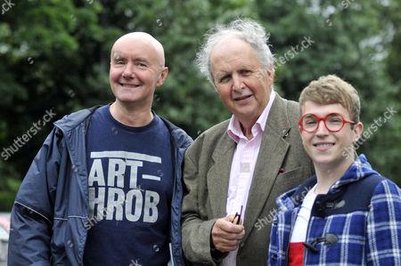Irvine Welsh, Alexander McCall Smith and Clark Devlin (Bertie)