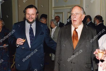 Robert Morley And Son Sheridan Morley At A Luncheon At Foyles In Honour Of Robert.