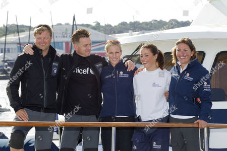Alex Thomson, Ewan McGregor, Zara Phillips, Natalie Pinkham and Dee Caffari