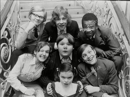Television Progamme ' Here Come The Double Deckers ' 1970 Back Row Michael Auderson Peter Firth Brinsley Forde Middle Row Gillian Bailey Douglas Simmonds Bruce Clark And Front Debbie Russ