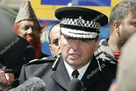 Stock Image of West Midland Police Chief Constable Chris Simms at the scene of the hit and run