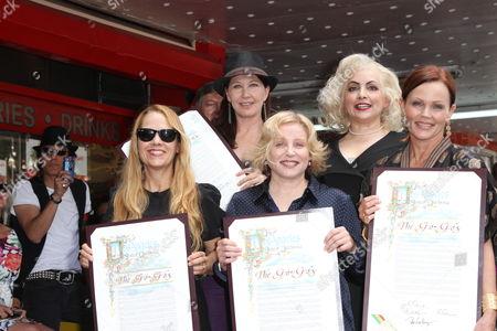 The Go-Go's - Charlotte Caffey, Belinda Carlisle, Gina Schock, Kathy Valentine and Jane Wiedlin