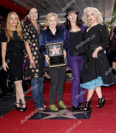 Kathy Valentine, Charlotte Caffey, Belinda Carlisle, Gina Schock and Jane Wiedlin