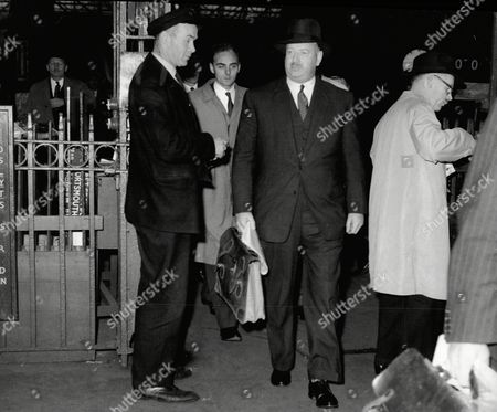 Lord Beeching (doctor Richard Beeching) New Chairman Of British Railways Arrives At Victoria Train Station.