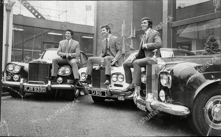 Chart Topping Singers Engelbert Humperdinck And Tom Jones With Their Manager Gordon Mills And Their Rolls Royces At Elstree Studios