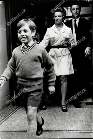Princess Muna Wife Of King Hussein Of Jordon - 1970 Prince Abdullah And Prince Feisal Set Out For School With Their Mother.