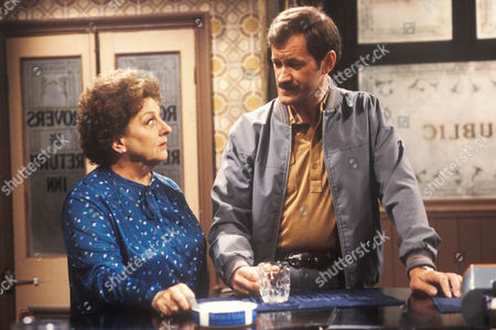 Coronation Street August 11th 1982 Phil Morris [Ken Kitson] asks Betty Turpin [Betty Driver] about Eddie's fiancee Marion.
