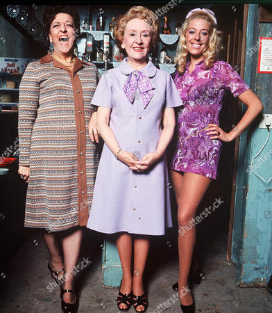 Stock Photo of Coronation Street:  Betty Turpin [Betty Driver], Annie Walker [Doris Speed] and Bet Lynch [Julie Goodyear]