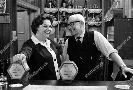 Coronation Street: 1969 Betty Turpin [Betty Driver] and Jack Walker [Arthur Leslie]