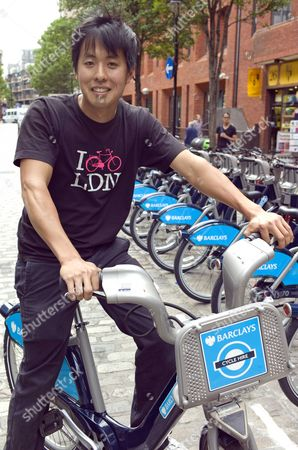 Stock Image of Anthony Lau (pictured) Who Has Designed T-shirts To Link In With 'boris's Bike' Scheme (barclays Cycle Hire). Ross Lydall Story