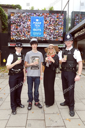 Sam Pepper with Philippa Morgan Walker and Constables Bishop and Turner of the MET Police