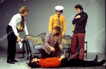 Freddie Starr, Lennie Bennett [on floor] and Norman Collier