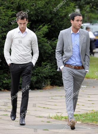 Editorial photo of Jack Tweed and brother Lewis arriving at Redbridge Magistrates Court, London, Britain - 16 Aug 2011