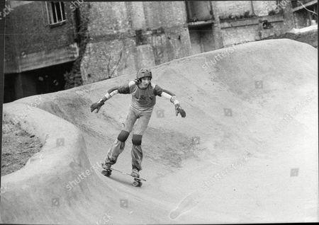 Simon Bell On The Bowl Skateboard At Hms Belfast In London