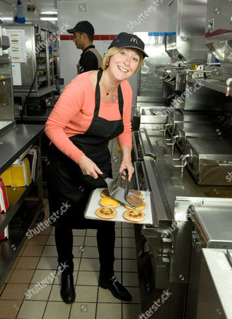 McDonalds UK CEO Jill McDonald in the Maidenhead branch of McDonald's