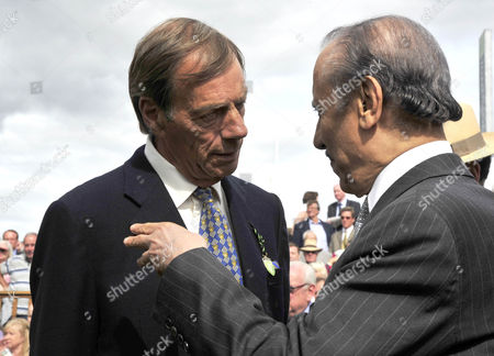 Henry Cecil, trainer, and Prince Khalid Abdullah