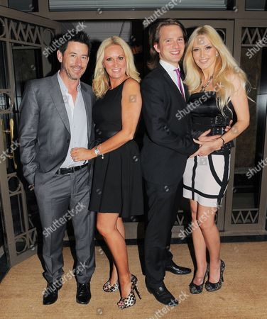 Sarah Bosnich and husband Steve Jones with Emma Noble and boyfriend Conrad Baker