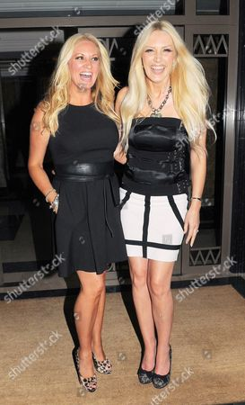 Editorial picture of Sarah Bosnich and Emma Noble at the Westbury Hotel, London, Britain - 17 Aug 2011