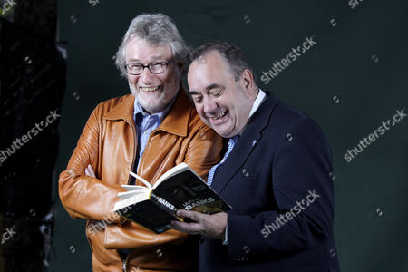 Iain M. Banks and First Minister Alex Salmond