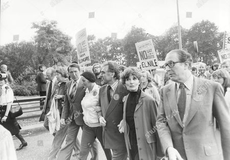Demonstrations And Protests In London 1979 Actors Protest March In London L-r George Sewell Liz Fraser Geraint Evans Adrienne Corri Peter Jones