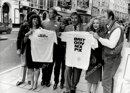Editorial picture of Frankie Howerd Tim Pigot-smith Phyllis Logan Carol Drinkwater And Connie Booth Are Seen The Launch Of The Association Of Independent Film Producers At The New Shaftesbury Club In London